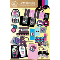 Kit Imprimible Personalizado Monster High Candy Bar Deco !