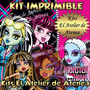 Kit Imprimible Monster High - Editable Envio Gratis