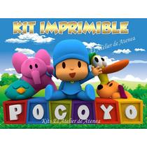 Kit Imprimible Pocoyo - Invitaciones Y Mas - Envio Gratis