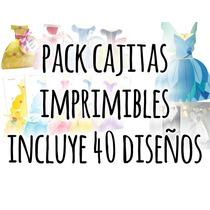 Pack Cajitas Imprimibles Princesas Principes Hadas Y Novios!