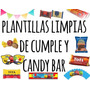 Kit Imprimible Plantillas Limpias De Cumple Y Candy Bar!!!