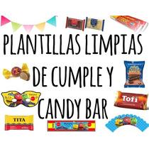 Kit Imprimible Plantillas Limpias De Cumple Y Candy Bar!!!