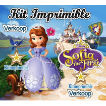 Kit Imprimible Princesa Sofia Primera + Candy Bar Fiestas Ar