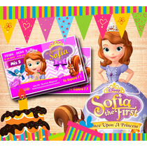 Kit Imprimible Princesa Sofia - Editable ** Incluye Candy **
