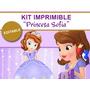 Kit Imprimible Editable Princesa Sofia, Golosinas Candybar