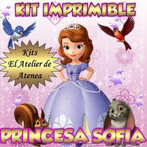 Kit Imprimible Princesita Sofia Candy Bar - Golosinas -