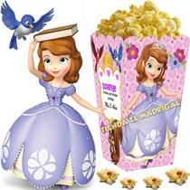 Kit Imprimible Princesa Sofia Disney Candy Bar Cotillon 2x1