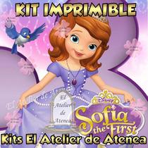 Kit Imprimible Princesa Sofia Invitaciones Y Mas 2x1