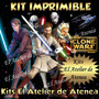 Kit Imprimible Star Wars Clone Wars - Invitacione Y Más