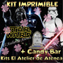 Kit Imprimible Star Wars Darth Vader Candy Bar Golosinas 2x1