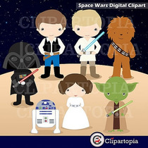Kit Imprimible Star Wars Imagenes Clipart