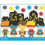 Kit Imprimible Chicos Superheroes 6 Imagenes Clipart