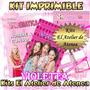 Kit Imprimible Violetta Utiles Escolares - Caratula,etiqueta