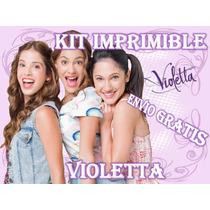 Kit Imprimible Violetta - Invitaciones Y Mas - Envio Gratis