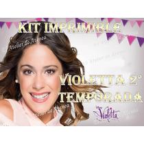 Kit Imprimible Violetta Segunda Temporada - Invitacion Y Mas