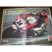 Poster Kevin Schwantz Campeon Mundial Motociclismo 1993(195)
