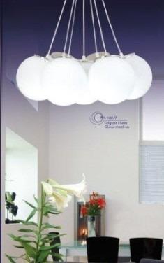 Lampara colgante 7 luces globo para comedor sala tvf 2 for Luces colgantes para comedor