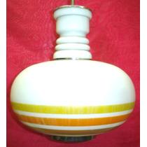 Hermoso Colgante Vintage En Opalina (388)