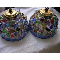 Original Par De Lamparas Tiffany Con Certif Autenticidad-