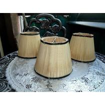 Juego 3 Antiguas Pantallas Para Lámpara Colgante /mesa