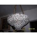 Araña Hecha Con Flores De Cristal De Murano 40 Cm
