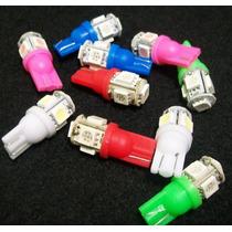 Lamparas X10 Posicion 5 Smd T10 Led Varios Colores 10pcs