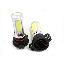Kit Lampara H16 Led Cob Con Lupa T/xenon Super Blancas