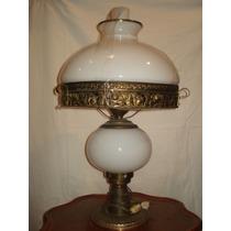 Lámpara De Mesa Estilo Quinqué. Antigua Y Majestuosa.