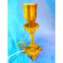 El Arcon Velador Lampara De Mesa De Bronce Labrado 28061