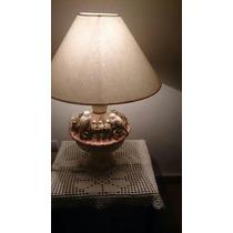 Lámpara De Percelana De Diseño Exclusivo De Anticuario