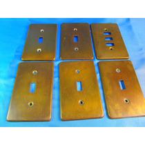 El Arcon Lote De 6 Tapas Para Electricidad De Bronce 42056
