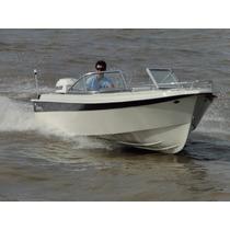 Lancha Vision Classic Con Mercury 75 Hp 2 Para Pesca Y Paseo