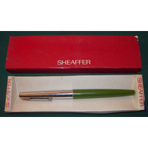 Lapicera Sheaffer Verde Claro Tinta Cartucho En Caja