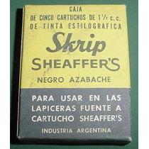 Sheaffer Skip Caja 5 Cartuchos Lapiceras Tinta Negro Azabach
