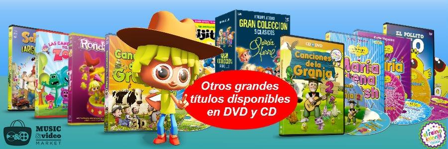 Otros titulos disponibles en DVD y CD