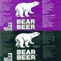 Dos Etiquetas Cerveza Bear Beer Rusia Botella 2 Litros