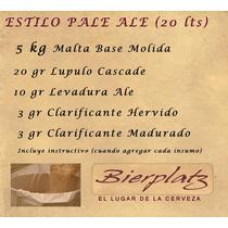 Kit De Insumos Pale Ale 20 Lts Cerveza Artesanal Bierplatz