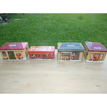 Lote 2 Latas Caja Vela Aromatica Colección Coca Cola Navidad