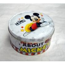 Lata Baja Mickey Con Tapa 010389