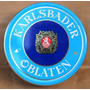 Antigua Lata Galletitas Obleas Karlsbader Checoslovaquia