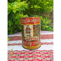 Antigua Lata Quaker Made In Usa, 1 Ibra - 567 Gramos