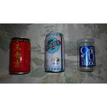 Lote De Latas Chinas De Gaseosa Y Sake Vino Japones