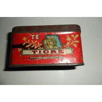 Antigua Lata De Te Tigre Año 1935 Especial Para Coleccion¡
