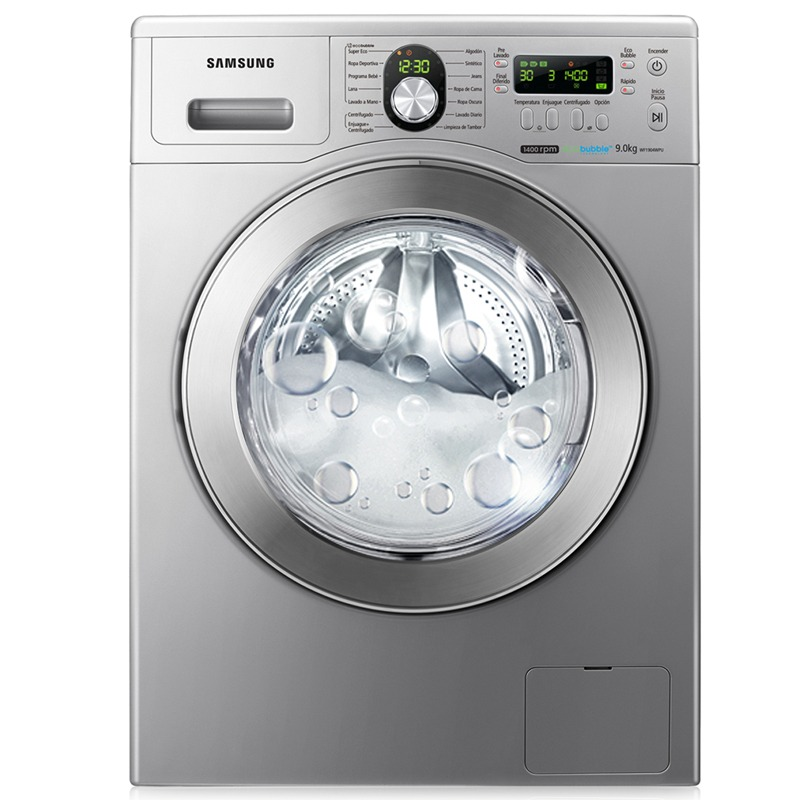 Lavadora Samsung con EcoBubble Technology: Adis Al Lodo