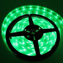 Tira De Leds 5050 Verde 5 Mts Siliconada Exterior 60 L X Mt