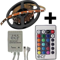 Tira Led Color Rgb Kit 5050 Exterior Siliconada