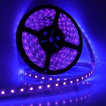 Tira De Led Ultravioleta 5050 5 Metros Interior Uv Luz Negra