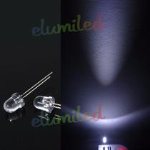 Led 8mm Blanco Frio Alto Brillo Alta Luminosidad 50 Unidades