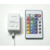 Controladora Rgb + Control Remoto Ir De 24 Botones 6 Amp.