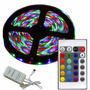 Tira Led Rgb Color 5 Mt Kit Completo Trafo + Control + Fuent